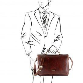 PADOVAイタリア製 ベジタブルタンニンレザーのビジネスバッグ詳細