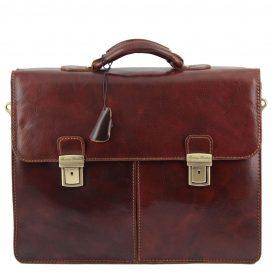 イタリア製BOLGHERI ベジタブルタンニンレザーのビジネスバッグ、詳細1