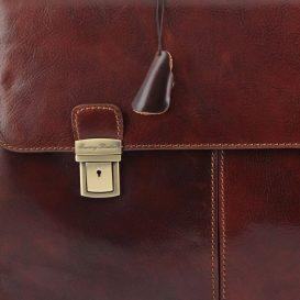 イタリア製BOLGHERI ベジタブルタンニンレザーのビジネスバッグ、詳細5