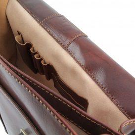 イタリア製BOLGHERI ベジタブルタンニンレザーのビジネスバッグ、詳細6