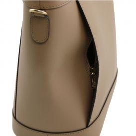 DEMETRA ルーガ・カーフレザーの2WAYバケツ型バッグ
