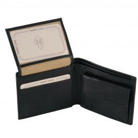 イタリア製フルグレインレザーの小銭入れ&IDケースつきメンズ財布、詳細2