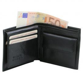 イタリア製本牛革カーフレザーの小銭入れ&IDケースつきメンズ財布