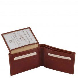 イタリア製フルグレインレザーの紙幣&カード入れ、IDケースつきメンズ財布、詳細