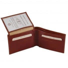 イタリア製フルグレインレザーの紙幣&カード入れ、IDケースつきメンズ財布、詳細1