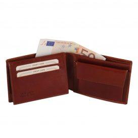 イタリア製カーフレザーのIDケース&小銭入れつきメンズ財布、詳細2
