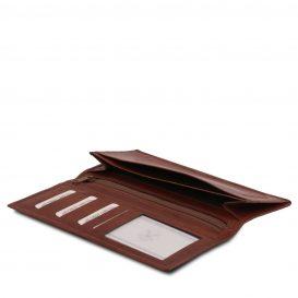 イタリア製フルグレインレザーの小銭入れつきメンズ長財布、詳細