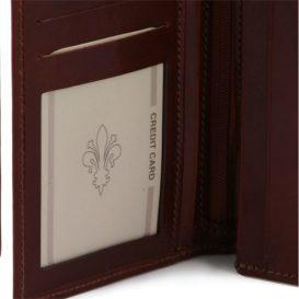 イタリア製ベジタブルタンニンレザーの小銭入れつきメンズ長財布、詳細3