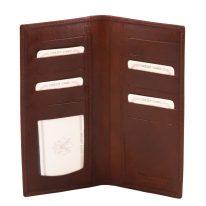 イタリア製フルグレインレザーのカード&紙幣入れメンズ長財布、詳細1