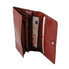 イタリア製フルグレインレザーの長財布、詳細