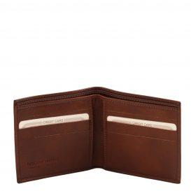 イタリア製フルグレインレザーの小銭入れ無しメンズ財布、詳細