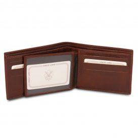 イタリア製フルグレインレザーのIDケースつき小銭入れ無しメンズ財布、詳細2