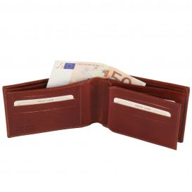 イタリア製フルグレインレザーのIDケースつき小銭入れ無しメンズ財布、詳細1