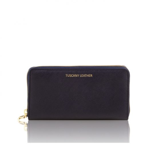 イタリア製本革カーフ・サフィアーノレザーのレディース長財布 (3室タイプ)