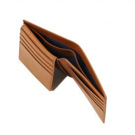 イタリア製本牛革カーフ・サフィアーノレザーのメンズ財布