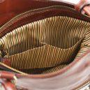 イタリア製ベジタブルタンニンレザー・リュック&ショルダー2way バッグ、ブラウン、茶色、詳細4