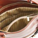 イタリア製ベジタブルタンニンレザー・リュック&ショルダー2way バッグ、ブラウン、茶色、詳細5