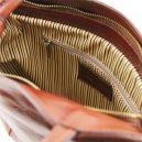 イタリア製ベジタブルタンニンレザー・リュック&ショルダー2way バッグ、ブラウン、茶色、詳細6
