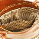 イタリア製ベジタブルタンニンレザー・リュック&ショルダー2way バッグ、ハニー、キャメル、詳細5