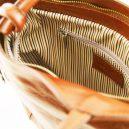 イタリア製ベジタブルタンニンレザー・リュック&ショルダー2way バッグ、ハニー、キャメル、詳細6