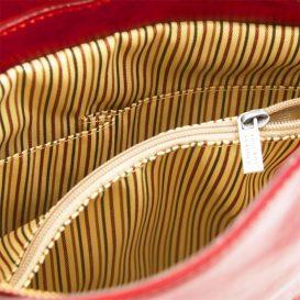 イタリア製ベジタブルタンニンレザー2WAYリュック&ショルダーバッグPATTY、レッド、詳細4