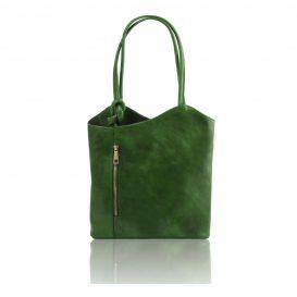 イタリア製ベジタブルタンニンレザー・リュック&ショルダー2way バッグ、グリーン