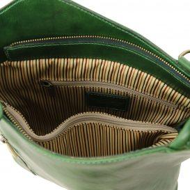 イタリア製ベジタブルタンニンレザー・リュック&ショルダー2way バッグ、グリーン、詳細4