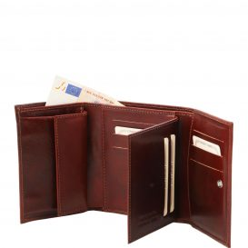 イタリア製フルグレインレザーのIDケースつき財布、詳細1