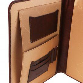 イタリア製ベジタブルタンニンレザーのボタン開閉ドキュメントケース ADRIANO、詳細1