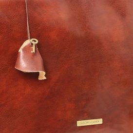 イタリア製ベジタブルタンニンレザーの取り外しポケットTL SMARTつきバッグ MANTOVA、詳細13