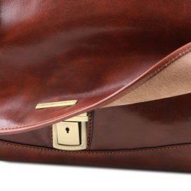 イタリア製ベジタブルタンニンレザーの取り外しポケットTL SMARTつきバッグ MANTOVA、詳細14