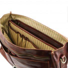 イタリア製ベジタブルタンニンレザーの取り外しポケットTL SMARTつきバッグ MANTOVA、詳細8