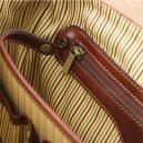 イタリア製MANTOVA ベジタブルタンニンレザーの取り外しポケットTL SMARTつきバッグ