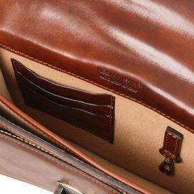 イタリア製ベジタブルタンニンレザーの斜め掛けバッグ ERIC、詳細3