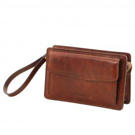 イタリア製ベジタブルタンニンレザーのセカンドバッグ DENIS、詳細1