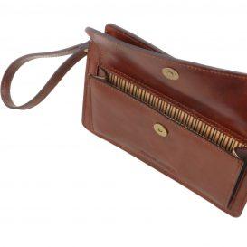 イタリア製ベジタブルタンニンレザーのセカンドバッグ DENIS、詳細2