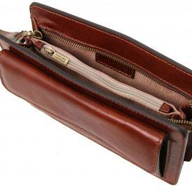 イタリア製ベジタブルタンニンレザーのセカンドバッグ DENIS、詳細3