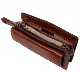 イタリア製DENIS 本牛革ベジタブルタンニンレザーのセカンドバッグ