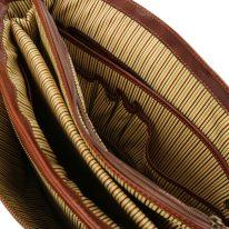 イタリア製ベジタブルタンニンレザーのビジネスバッグ ALESSANDRIA、詳細9