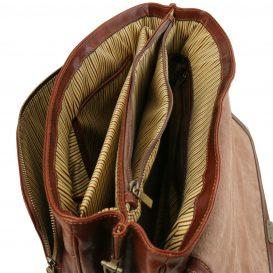 ALESSANDRIA ベジタブルタンニンレザーの取り外しポケットTL SMARTつきキャリーオン仕様バッグ詳細