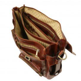 イタリア製ベジタブルタンニンレザーの取り外し仕切りつきバッグ VENTIMIGLIA、詳細12