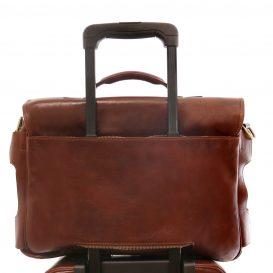 イタリア製ベジタブルタンニンレザーの取り外し仕切りつきバッグ VENTIMIGLIA、詳細4