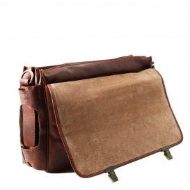 イタリア製ベジタブルタンニンレザーの取り外し仕切りつきバッグ VENTIMIGLIA、詳細5