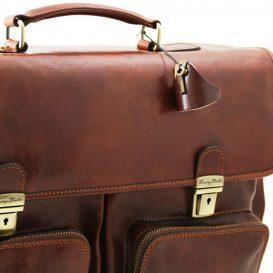 イタリア製ベジタブルタンニンレザーの取り外し仕切りつきバッグ VENTIMIGLIA、詳細6
