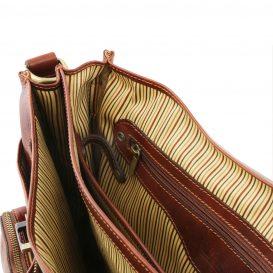 イタリア製ベジタブルタンニンレザーの取り外し仕切りつきバッグ VENTIMIGLIA、詳細8
