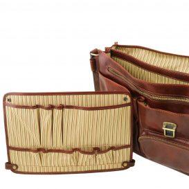 イタリア製ベジタブルタンニンレザーの取り外し仕切りつきバッグ VENTIMIGLIA、詳細9