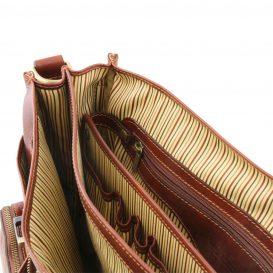 VENTIMIGLIA イタリア製ベジタブルタンニンレザーの取り外しポケットTL SMARTつきバッグ・詳細6
