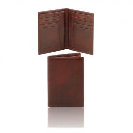 本牛革カーフレザーのメンズ財布(紙幣入れ2か所)ブラウン