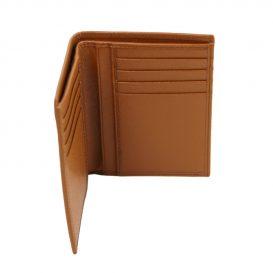 イタリア製本牛革カーフ・サフィアーノレザーのメンズ財布(紙幣入れ2か所)