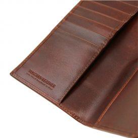 イタリア製本牛革カーフレザーのメンズ長財布